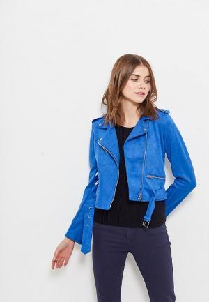 Куртка кожаная Befree. Цвет: синий
