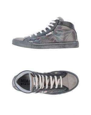 Высокие кеды и кроссовки MIA. Цвет: серый