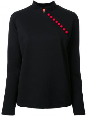 Side button detail blouse Growing Pains. Цвет: чёрный