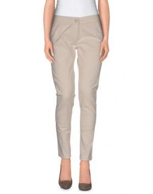 Повседневные брюки DRH. Цвет: слоновая кость