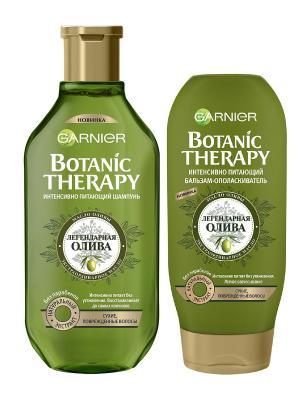 Шампунь+Бальзам Botanic Therapy, Легендарная олива для сухих,поврежденных волос, 250+200 мл Garnier. Цвет: белый