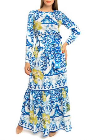 Платье MoNaMod. Цвет: голубой