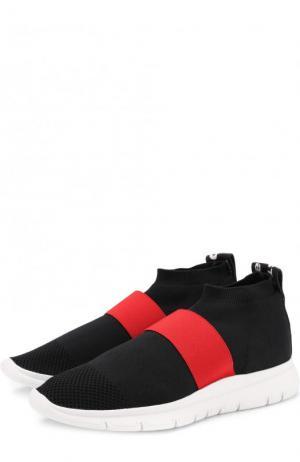 Текстильные кроссовки Go High с эластичной лентой Joshua Sanders. Цвет: черный