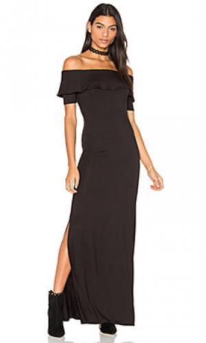 Макси платье ginger De Lacy. Цвет: черный