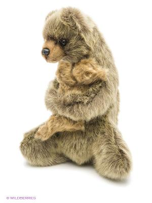 Медведица с медвежонком, 33см Hansa. Цвет: коричневый
