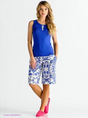 Домашний костюм CATHERINE'S. Цвет: синий, белый