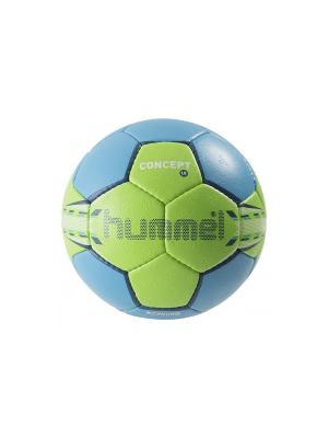 Мяч 1.5 CONCEPT HUMMEL. Цвет: синий, салатовый