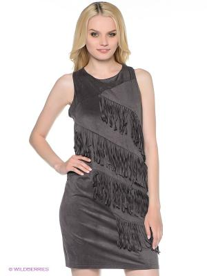 Платье Fullah Sugah. Цвет: серо-коричневый