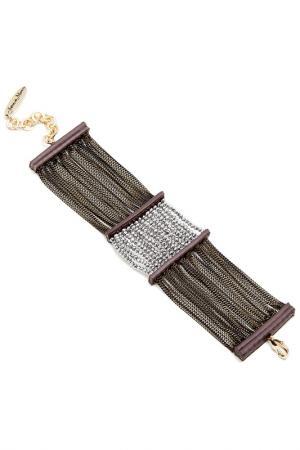 Браслет Jaffrey de Marenta. Цвет: коричневый, золотой, серебряны