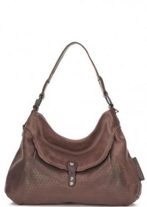 Кожаная сумка через плечо с короткой ручкой aunts & uncles. Цвет: коричневый
