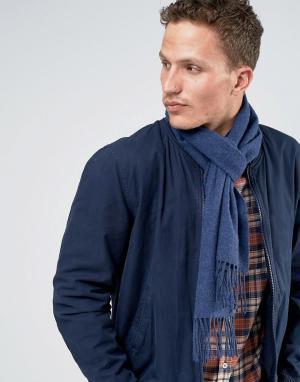 Glen Lossie Голубой шарф из овечьей шерсти. Цвет: синий