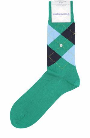 Хлопковые носки Manchester Burlington. Цвет: зеленый