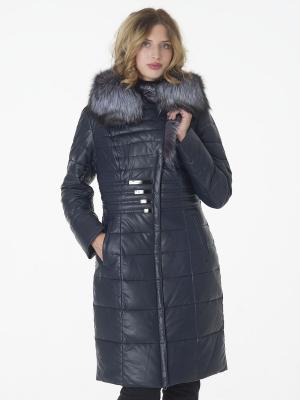Стеганое пальто OSTRICH. Цвет: темно-синий