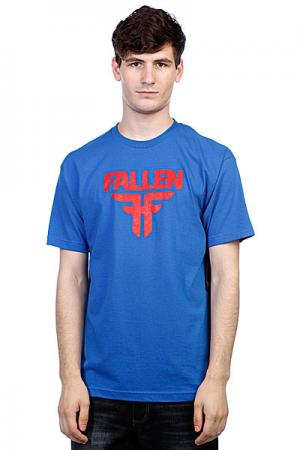Футболка  Insignia Logo Royal Blue/Blood Red Fallen. Цвет: синий