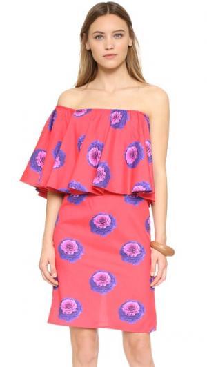Платье без бретелек Viva Aviva. Цвет: kale yeah!