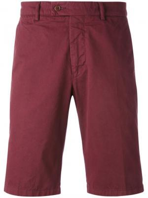 Классические облегающие шорты Aspesi. Цвет: красный