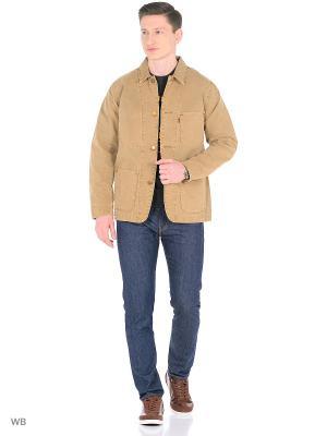 Куртка Levi's®. Цвет: бежевый