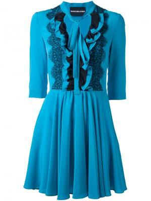 Платье с оборками Marco Bologna. Цвет: синий
