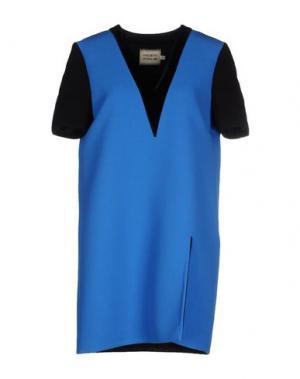 Короткое платье FAUSTO PUGLISI. Цвет: лазурный