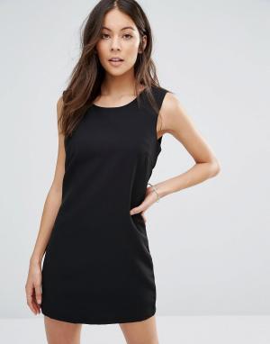 Unique 21 Маленькое черное платье. Цвет: черный