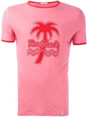 Футболка с принтом Marc Jacobs. Цвет: розовый и фиолетовый