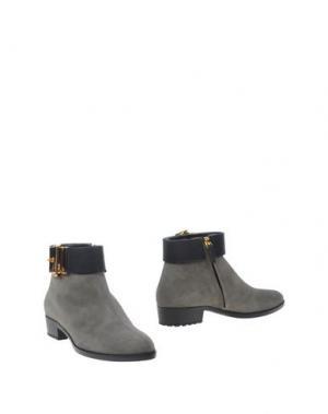 Полусапоги и высокие ботинки VICINI. Цвет: серый