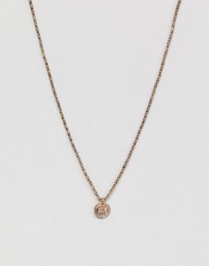 DesignB London Ожерелье в винтажном стиле эксклюзивно для ASOS. Цвет: золотой