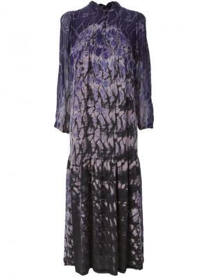 Платье с узором тай-дай Raquel Allegra. Цвет: розовый и фиолетовый