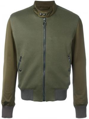 Куртка на молнии Lanvin. Цвет: зелёный
