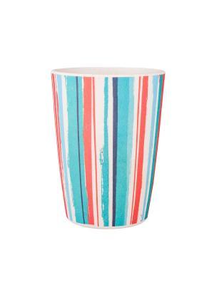 Набор стаканов Мексикан Стрипс 4 шт Ecowoo. Цвет: голубой, красный