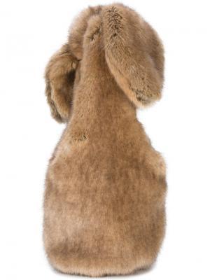 Сумка на плечо из искусственного меха Bow Simone Rocha. Цвет: коричневый