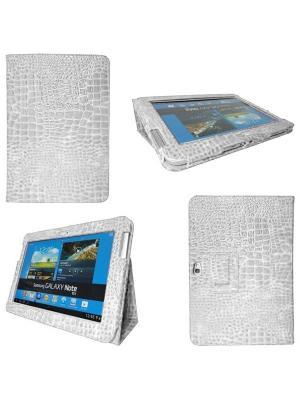 Обложка skinBOX crocodile case для планшета Samsung Galaxy Note N8000/8010/8020.. Цвет: белый
