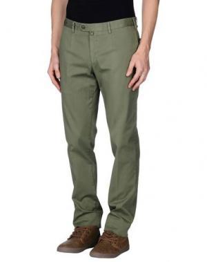 Повседневные брюки EREDI RIDELLI. Цвет: зеленый-милитари