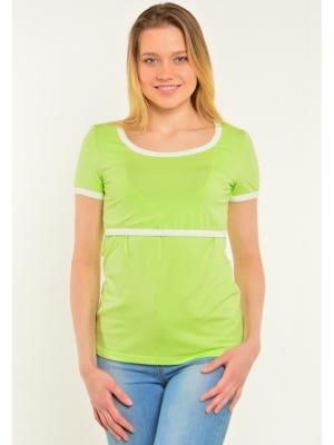 Блузка Ням-Ням. Цвет: светло-зеленый, молочный