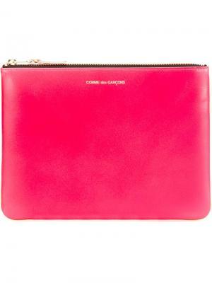 Клатч New Super Fluo Comme Des Garçons Wallet. Цвет: розовый и фиолетовый