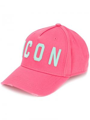 Бейсбольная кепка Icon Dsquared2. Цвет: розовый и фиолетовый