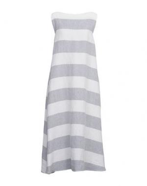 Длинное платье A.B APUNTOB. Цвет: светло-серый