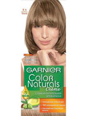 Стойкая питательная крем-краска для волос Color Naturals, оттенок 7.1, Ольха, 110 мл Garnier. Цвет: бежевый