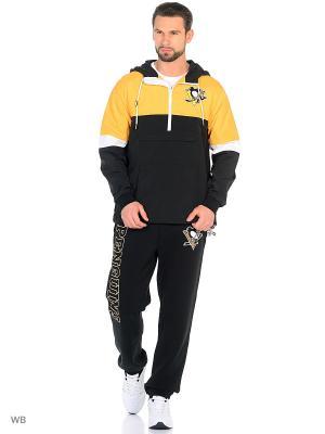 Анорак NHL Penguins Atributika & Club. Цвет: черный, желтый