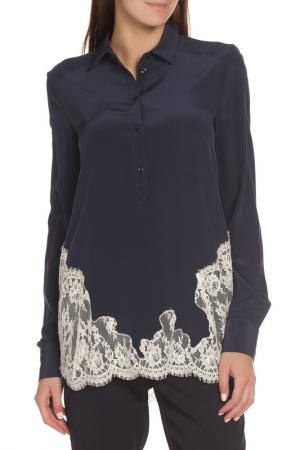 Блуза Ermanno Scervino. Цвет: темно-синий