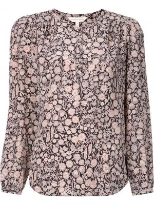 Floral print blouse Rebecca Taylor. Цвет: розовый и фиолетовый