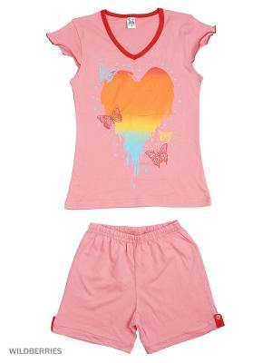 Костюм K&R BABY. Цвет: розовый