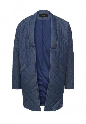 Куртка утепленная LOST INK. Цвет: синий