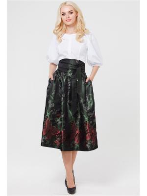Блузка MARY MEA. Цвет: белый