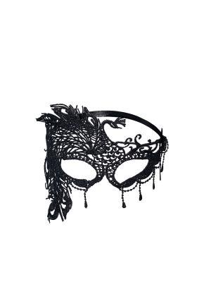 Ажурная маска Таинственная Изабелла Nothing but Love. Цвет: черный