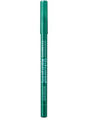 Карандаш водостойкий для глаз Contour Clubbing Waterproof, тон 50 loving grren Bourjois. Цвет: зеленый