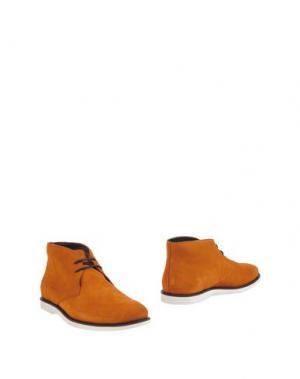 Полусапоги и высокие ботинки HOGAN. Цвет: ржаво-коричневый