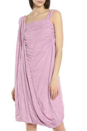 Легкое платье в свободном стиле Oblique. Цвет: сиреневый