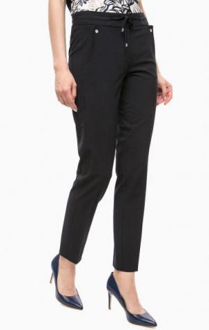 Темно-синие брюки со шнуром на талии olsen. Цвет: синий