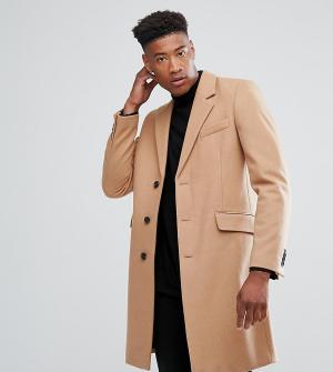 ASOS Бежевое пальто с добавлением шерсти TALL. Цвет: рыжий
